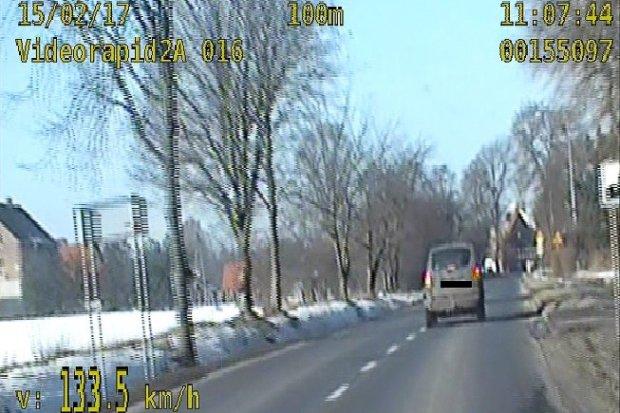 Bolesławianin pędził 133 km/h przez Łaziska
