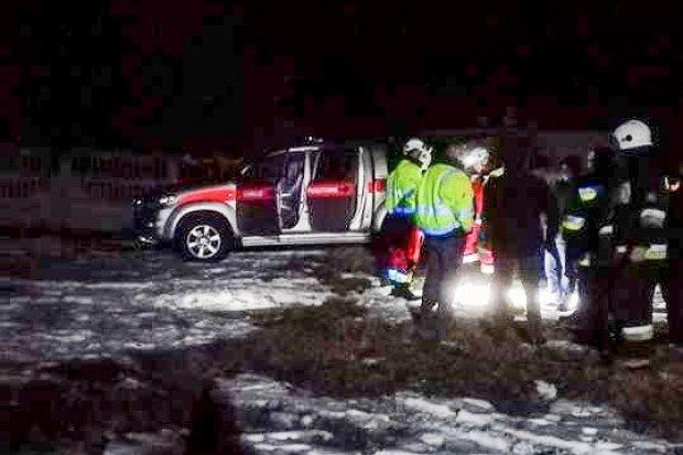 Nocna akcja strażaków: zapadł się szyb górniczy w Lubkowie