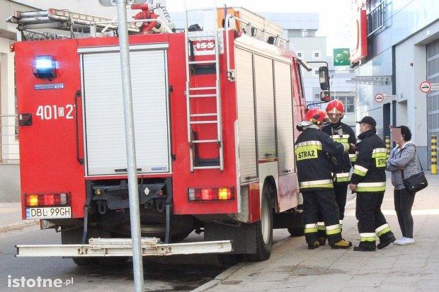 Akcja straży pożarnej na Polnej