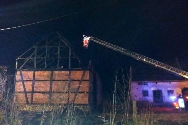 Pożar stodoły w Nowej Wsi
