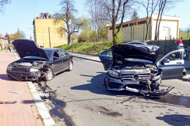 Wypadek na Gdańskiej, jedna osoba ranna