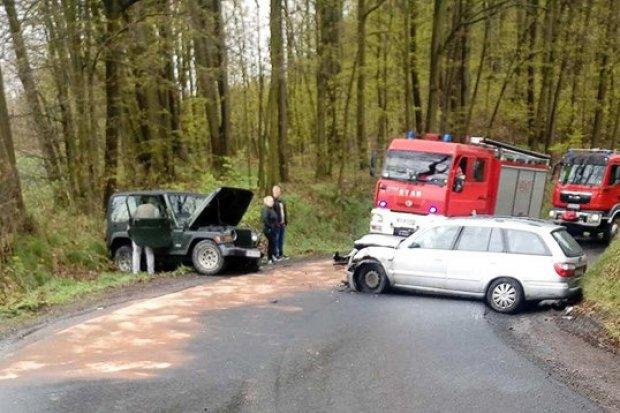 Wypadek na drodze Ocice–Lwówek: jedna osoba ranna