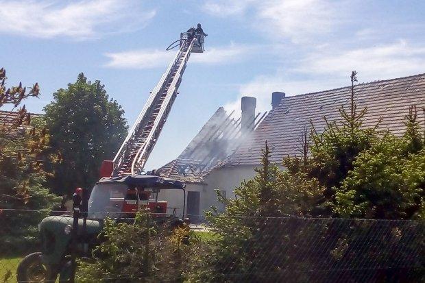 Pożar domu w Krzyżowej