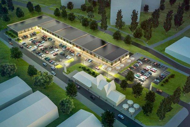 Zobacz wizualizację nowego parku handlowego na dworcu wschodnim w Bolesławcu