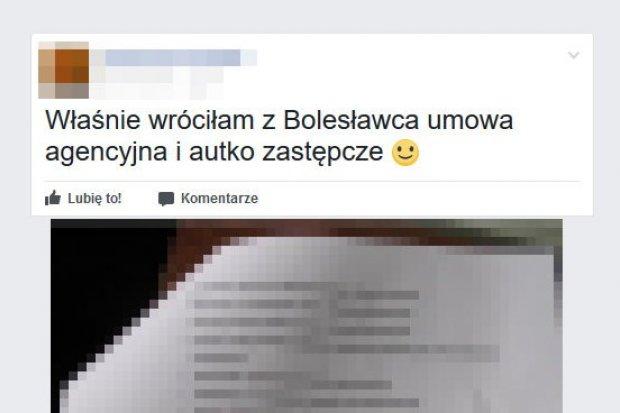 Babka od odszkodowań wrzuciła na facebooka dane ofiary wypadku