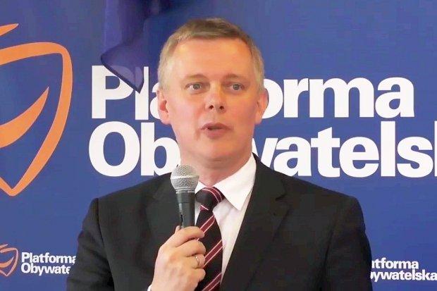 Były szef MON Tomasz Siemoniak i posłowie PO w Bolesławcu