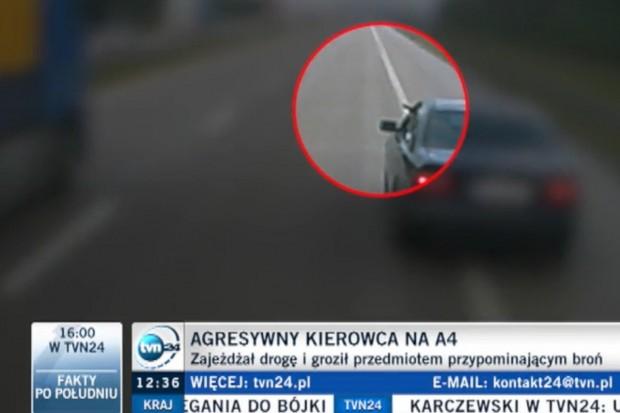 Na A4 groził kierowcy ciężarówki czymś, co przypominało broń