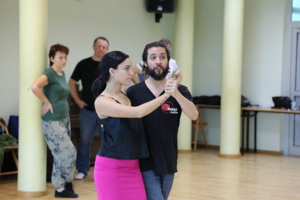 Rewelacyjna para argentyńskich instruktorów uczyła bolesławian tanga
