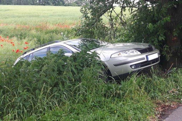Bolesławianin uciekał przed policją, zderzył się z drzewem i wylądował w rowie
