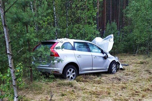 Volvo wjechało w Hondę na A18. Amerykanin z 500-zł mandatem