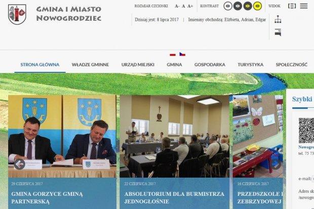 Nowy wygląd strony Gminy Nowogrodziec