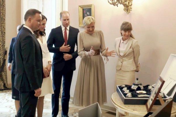 Agata Duda podarowała parze książęcej ceramikę z Bolesławca