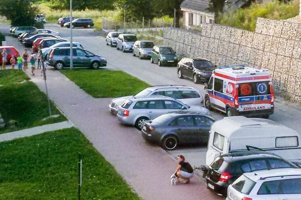 Potrącenie dziecka przy ulicy Śluzowej