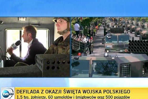 TVN24 wybrała wóz żołnierzy z Bolesławca, by pokazać paradę