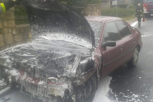 Wypadek i pożar w Starych Jaroszowicach