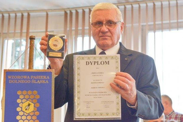 Pasieka Józefa Gumięgi najlepsza na Dolnym Śląsku