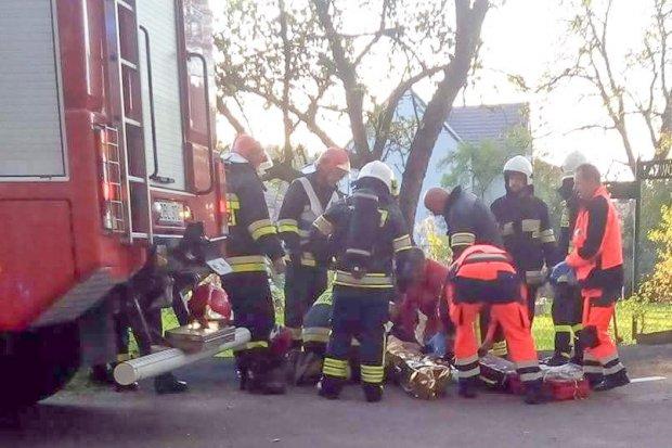 Pożar budynku w Jurkowie – jedna osoba ciężko ranna