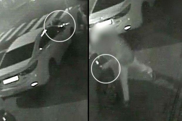 Pijana na masce auta, nabuzowany wali w lusterka