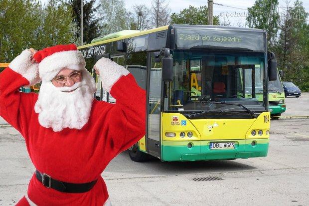 W miejskich autobusach można będzie spotkać św. Mikołaja