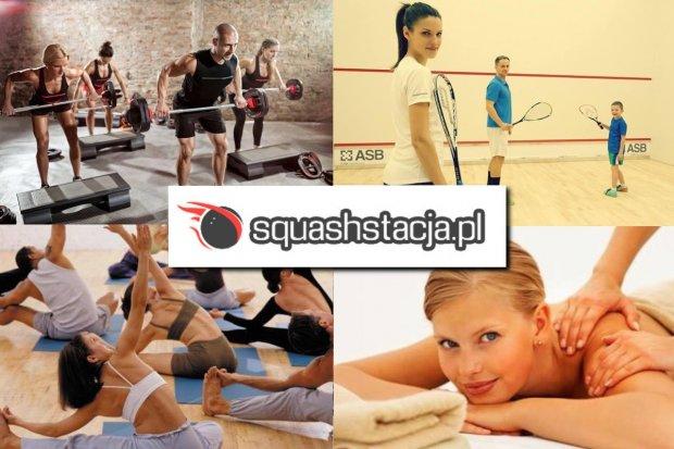 Squash, fitness, sauna, masaże, półkolonie, prezenty. Sprawdź ofertę Squashstacji