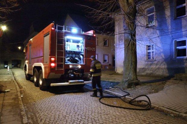 Trzy pożary nocą w centrum Bolesławca