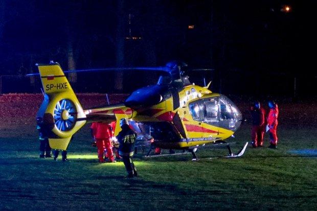 Śmiertelny wypadek w Tomaszowie, wezwano helikopter