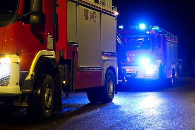 Pożar stodoły w Wykrotach