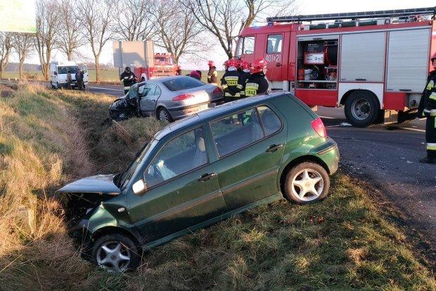 Groźny wypadek w Kraśniku Dolnym – są ranni