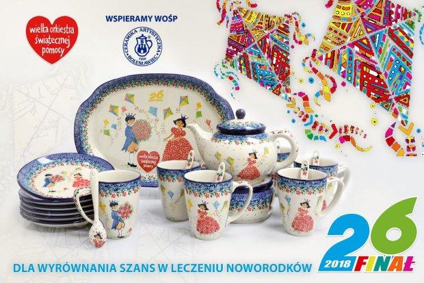 Ceramika Artystyczna gra z WOŚP. Wylicytuj wspaniały zestaw do herbaty!