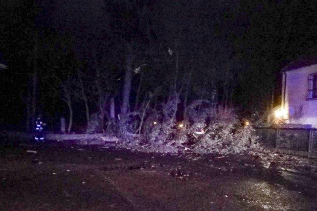 Orkan Fryderyka wkroczył do Bolesławca, strażacy usuwają powalone drzewa