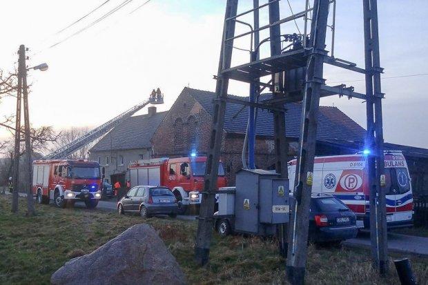 Pożar w Lubkowie. Jedna osoba poszkodowana