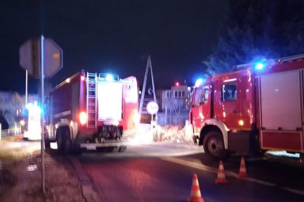 Pożar w budynku przy ul. Spacerowej