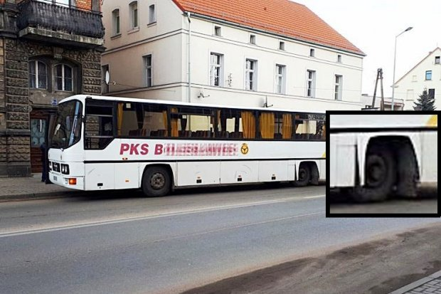 Autobus PKS zgubił koło