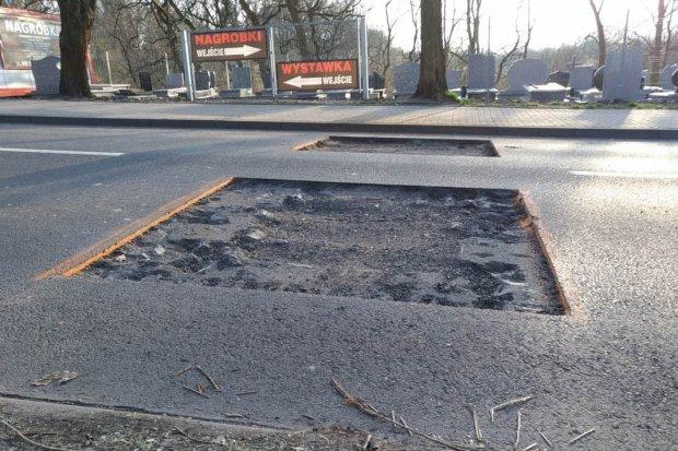 Drogowcy wycięli asfalt na Śluzowej. Wiemy, w jakim celu
