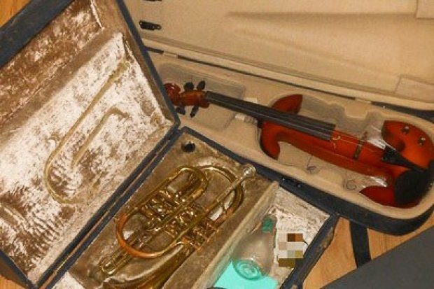 Ukradł instrumenty warte blisko 12 tys. zł. Recydywista zatrzymany