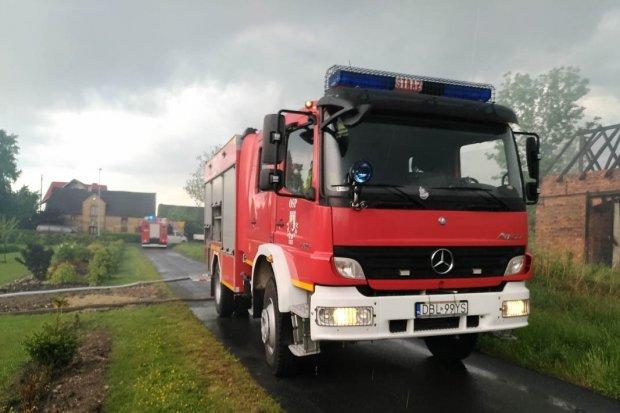 Pożar budynku w Brzeźniku