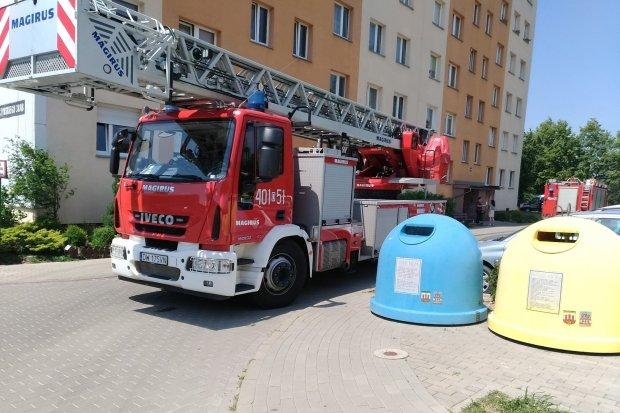 Akcja straży pożarnej przy Gałczyńskiego
