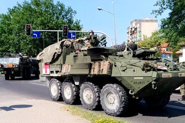 Wzmożony ruch pojazdów US Army w Bolesławcu