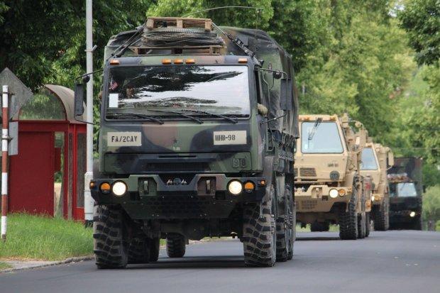 Konwoje US Army dotarły do celu. Mieszkańcy Bolesławca mogą na razie odetchnąć