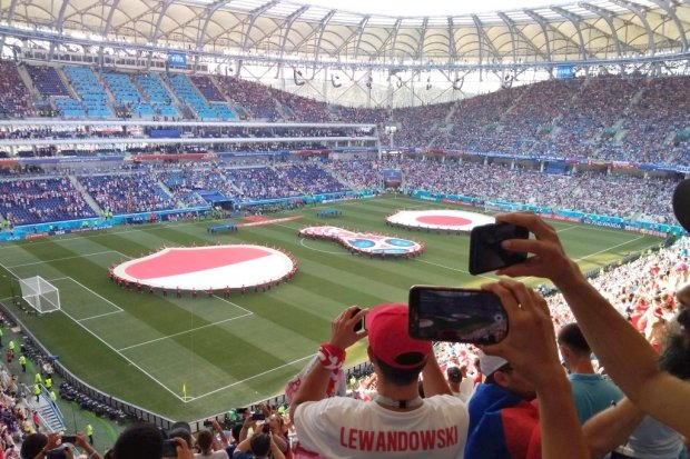 Zobacz gola z meczu Polska – Japonia i polskich kibiców z perspektywy kibica Rosjanina