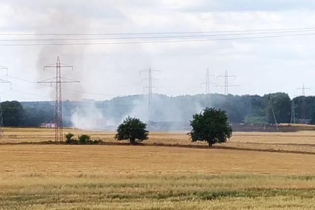 Pożar ścierniska w Rakowicach