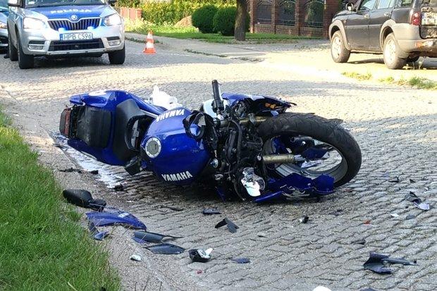 Motocyklista ciężko ranny w wypadku w Bożejowicach