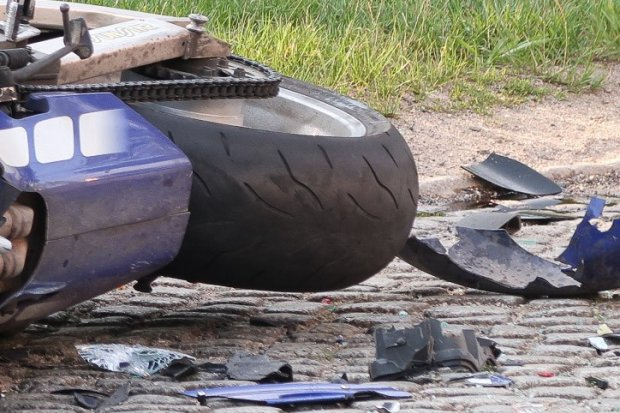 Pijany motocyklista miał wypadek koło Mierzwina