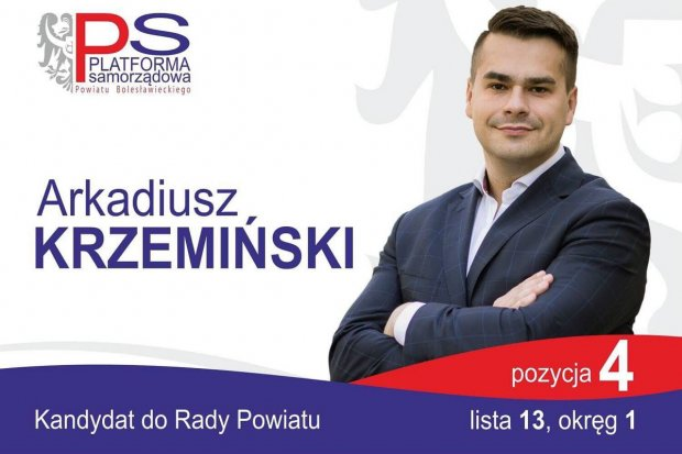 Arkadiusz Krzemiński – dobry kandydat do rady powiatu