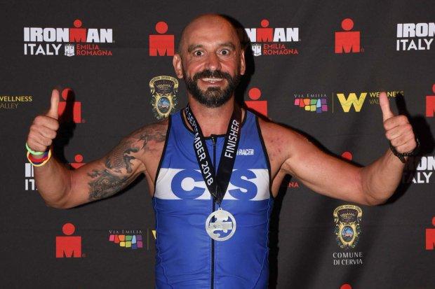 Mariusz Kozak ukończył triatlon we Włoszech