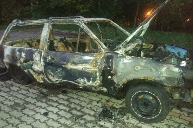 Spłonęło auto na Gdańskiej