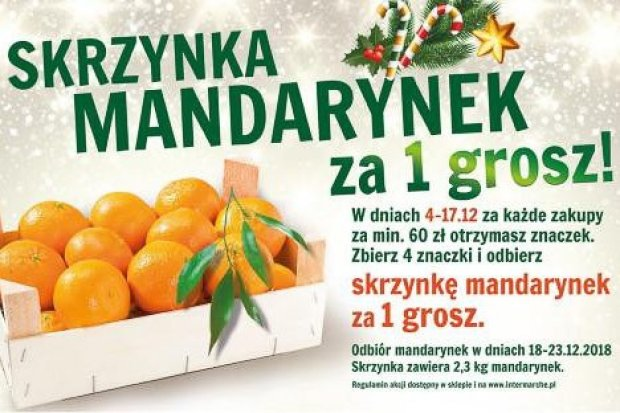 W Intermarche skrzynka zdrowych mandarynek za 1 grosz