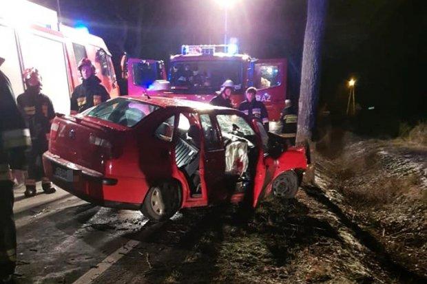 Wypadek w wigilijną noc między Parową a Osiecznicą