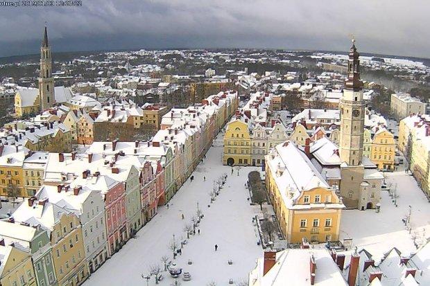 Piękna zima zawitała do Bolesławca, zobacz na filmiku