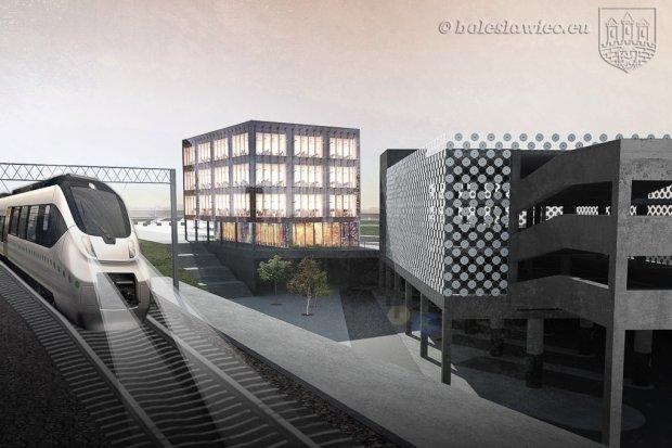 Są wstępne projekty centrum przesiadkowego przy dworcu PKP w Bolesławcu
